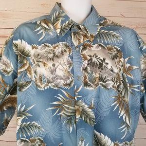 Saddlebred Shirts - Saddlebred Men's XL Hawaiian Tropical Surf Shirt